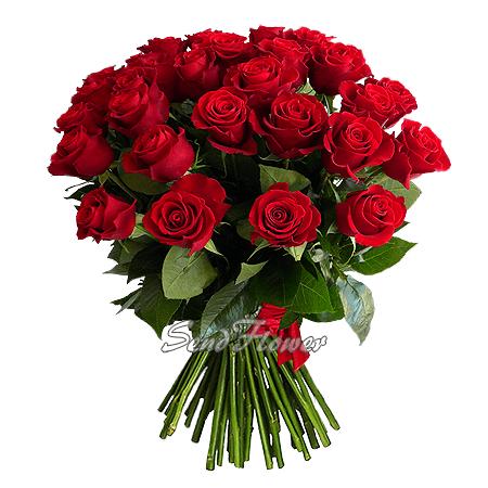 Букет из красных роз (60 см.)